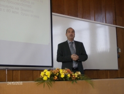 Mr. Hristofor Bunardzhiev read a lecture to students in the town of Plovdiv