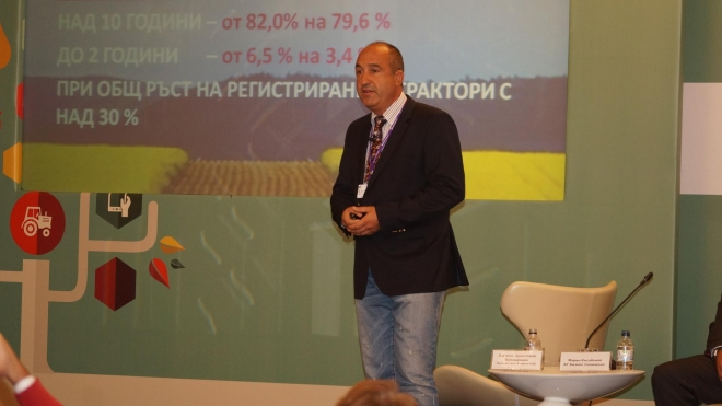 "CHRISTOFOR BUNARDZHIEV WITH A LECTURE ON THE NATIONAL CONFERENCE ""THE DEVELOPMENT CHALLENGES OF AGRICULTURAL SECTOR"""